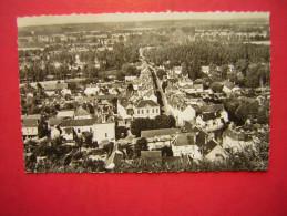 CPSM PHOTO GLACEE LA CHARTRE SUR LE LOIR Sarthe  VUE GENERALE     VOYAGEE 1958  TIMBRE - France
