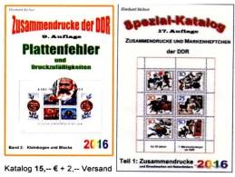 Zusammendrucke+Abarten Blocks/Kleinbogen DDR/GDR Teil 1+5 RICHTER 2016 Neu 40€ Se-tenant Error Special Catalogue Germany - Deutsch