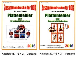 ZD-Abarten Bei Bogen+ Blocks/Kleinbogen DDR/GDR Teil 4+5 RICHTER 2016 Neu 35€ Se-tenants Error Special Catalogue Germany - Alemán