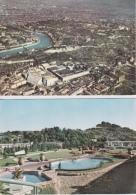 16 / 4 / 382  -    2  CPM  (grd. Mod. )  SOCIÉTÉ  RHODIACETA -  Panorama  &  Terrasse - Autres