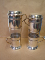 ED. 105. Deux Anciens Filtres à Café Argentés. (ED.1. 700) - Argenterie