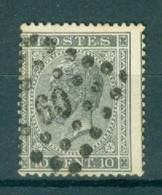 """BELGIE - OBP Nr 17A  - Leopold I - Puntstempel  Nr 60 """"BRUXELLES"""" (ref. ST-218) - Postmarks - Points"""