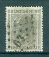 """BELGIE - OBP Nr 17A - Leopold I - Puntstempel  Nr 63 """"BRUXELLES-NORD"""" (ref. ST-220) - Postmarks - Points"""