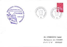 DESARMEMENT DE LA DERNIERE GABARE DE MER TIANEE  DERNIERE CEREMONIE DES COULEURS TOULON MARINE 12/3/99 - Poststempel (Briefe)