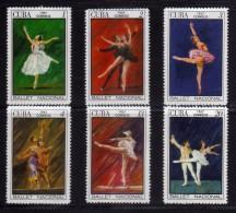 1967 - Cuba - Sc. 1232/1237 - - MNH - Ballet Nacional - CU-175 - 01 - Cuba