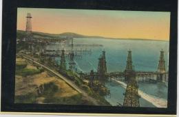 CPA - USA - CALIFORNIE  - OILWELLS IN THE PACIFIC OCEAN SUMMERLAND, NEAR SANT BARBARA - Santa Barbara