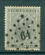 """BELGIE - OBP Nr 17A - Leopold I - Puntstempel  Nr 64 """"BRUXELLES-OUEST"""" (ref. ST-221) - Postmarks - Points"""