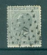 """BELGIE - OBP Nr 17  - Leopold I - Puntstempel  Nr 70 """"ANVERS-STATION"""" (ref. ST-222) - Postmarks - Points"""