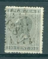 """BELGIE - OBP Nr 17A  - Leopold I - Puntstempel  Nr 128 """"FLEURUS"""" (ref. ST-229) - Postmarks - Points"""