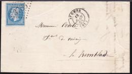 France - N°22 Sur LaC Obl. 1865 Saint Omer 3785 Pour La Tremblade - Postmark Collection (Covers)