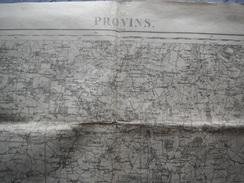 PROVINS    ET REGION   CARTE D ETAT MAJOR  REVISEE EN 1912 - Cartes Topographiques
