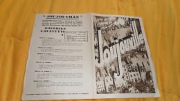 PARTITION ANCIENNE DE 1930. / JOUJOUVILLE AUX GALERIES LAFAYETTE. JEAN LE SEYEUX - Partituren