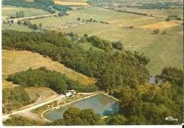 SOMME-LEUZE / NOISEUX (5377) : Vue Aérienne De L'étang Et Du Camping. CPSM. - Somme-Leuze