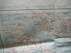 ANVERS     ET REGION   CARTE D ETAT MAJOR  REVISEE EN 1912 - Cartes Topographiques