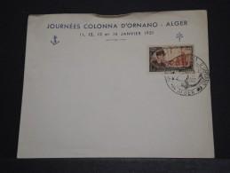 ALGERIE - Env Vierge Commémorative Journées Colonna D'Ornano - Janv 1951- A Voir - P17624 - Algérie (1924-1962)