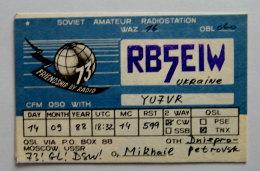 Kt 728 / QSL Radio Amateur Card, Ukraine, Dniepro-Petrovsk - Radio Amateur