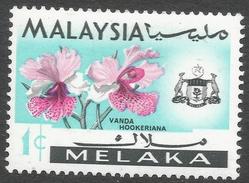 Malacca (Malaysia). 1965-68 Orchids. 1c MH SG 61 - Malaysia (1964-...)