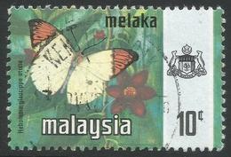 Malacca (Malaysia). 1971 Butterflies. 10c Used SG 74 - Malaysia (1964-...)