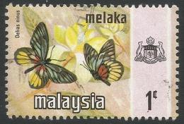 Malacca (Malaysia). 1971 Butterflies. 1c Used SG 70 - Malaysia (1964-...)