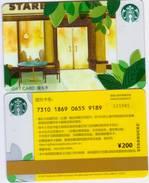 2015 China Starbucks Limited Neighborhoood Gift Cards Set With Sleeve Used - Chine