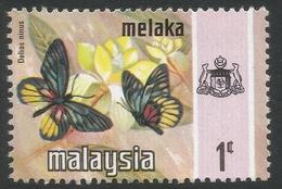 Malacca (Malaysia). 1971 Butterflies. 1c MNH SG 70 - Malaysia (1964-...)