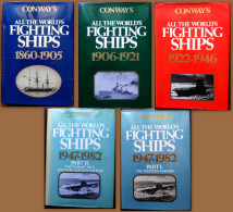 Conway's All The World's Fighting Ships 1860-1982. 5 Volumes. - Livres, BD, Revues