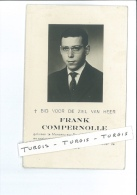 FRANK COMPERNOLLE ° MONCEAU-SUR-SAMBRE 1941 + ROESELARE 1960 DRUK WILLDRUK - Images Religieuses