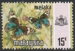 Malacca (Malaysia). 1971 Butterflies. 15c MH SG 78 - Malaysia (1964-...)