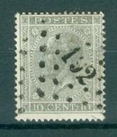 """BELGIE - OBP Nr 17A  - Leopold I - Puntstempel  Nr 192 """"ISEGHEM"""" - (ref. ST-239) - Marcophilie"""