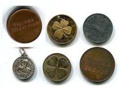 Table Medal E53 Sweden Telecommunication Leaf (6 Pcs; D 15- 24 Mm) - Jetons En Medailles