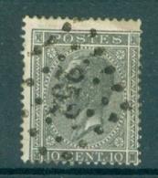 """BELGIE - OBP Nr 17A - Leopold I - Puntstempel  Nr 252 """"MONS"""" - (ref. ST-248) - Postmarks - Points"""
