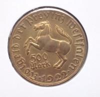 Duitsland  500 Mark 1922, Tombak, Notmünzen No 8, Unc - 200 & 500 Mark