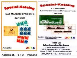 Standard-Markenhefte+Spezial-MH3 RICHTER 2016 DDR Teil 2+6 Kataloge Neu 50€ Booklet+carnet Special Catalogue GDR Germany - Ohne Zuordnung