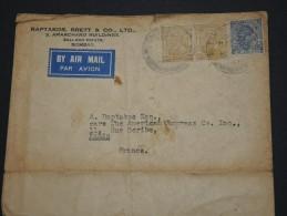 INDES ANGLAISES - Env Par Avion Bombay Pour Paris  - A Voir - P17668 - India (...-1947)
