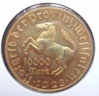 Duitsland  10.000 Mark 1923, Tombak, Notmünzen No 18, Unc - [ 3] 1918-1933: Weimarrepubliek