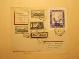 Marcophilie - Lettre Enveloppe Cachet Oblitération Timbres - FRANCE - Expo Phil Internationale Paris 1937 (11/12) - Postmark Collection (Covers)