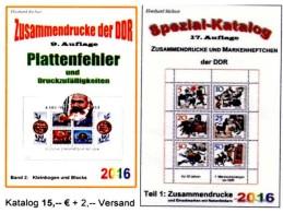 Zusammendrucke+Abarten Blocks/Kleinbogen DDR Part 1+5 RICHTER 2016 New 40€ Se-tenant Error Special Catalogue GDR Germany - Phonecards