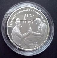 Frankrijk 1½ Euro 2006, 100e Sterfdag Paul Cezanne, Zilver Proof, LT: LU-G196 - Frankrijk