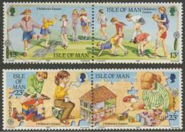 Isle Of Man 1989 Mi 404-405 406-407 ** Children´s Games Inside / Spiele Für Kinder / Jeux Pour Enfants - Europa Cept - Kindertijd & Jeugd