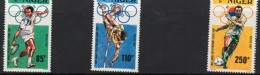 1987 Niger  Seoul Olympics Complete Set Of 3 Tennis Football MNH - Niger (1960-...)