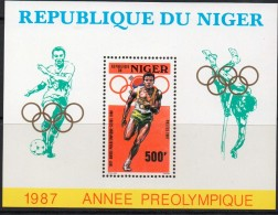 1987 Niger  Seoul Olympics Souvenir Sheet MNH - Niger (1960-...)