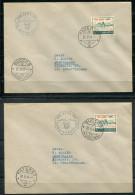 """3918 - SCHWEIZ / SWITZERLAND - Pro Aero 1941 - Mi.Nr.395 (2) Je Auf Brief. Flug """"Buochs-Payerne"""" Und """"Payerne-Buochs"""" - Premiers Vols"""