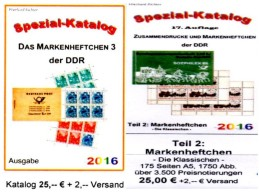 Standard-Markenhefte+Spezial-MH3 Part 2+6 RICHTER 2016 Kataloge DDR New 50€ Booklet+carnet Special Catalogue GDR Germany - Material Und Zubehör
