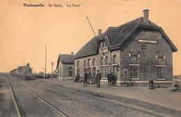 Poelkapelle  Poelcapelle    Stoomtrein      Station, La Gare , Statie Treinstation    A  1129 - Stations - Met Treinen