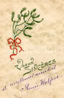 CPA / Postcard / Mistletoe / Voeux Sincères / Christmas / Raphael Tuck / Serie 731 / Paris / 1908 - Tuck, Raphael