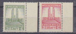 Belgisch Congo 1941 Monument Koning Albert I Te Leopoldstad 5 Fr  + 10 Fr (bladboord)  ** Mnh (29437) - Belgisch-Kongo