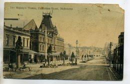 AUSTRALIE MELBOURNE Her Majesty's Theatre Exhibition Street 1910 écrite     /D08-2016 - Melbourne