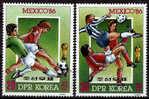 COREE DU NORD    N° 1803  * *    ( Cote 5e )  Cup 1986    Football  Soccer Fussball - Coupe Du Monde