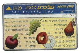 Israele - Tessera Telefonica Da 20 Units T15 - Frutta, - Israele