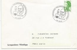 OBLITERATION COMMEMORATIVE EXPO PHILATELIQUE UNAZUR à NICE 1983 - Commemorative Postmarks